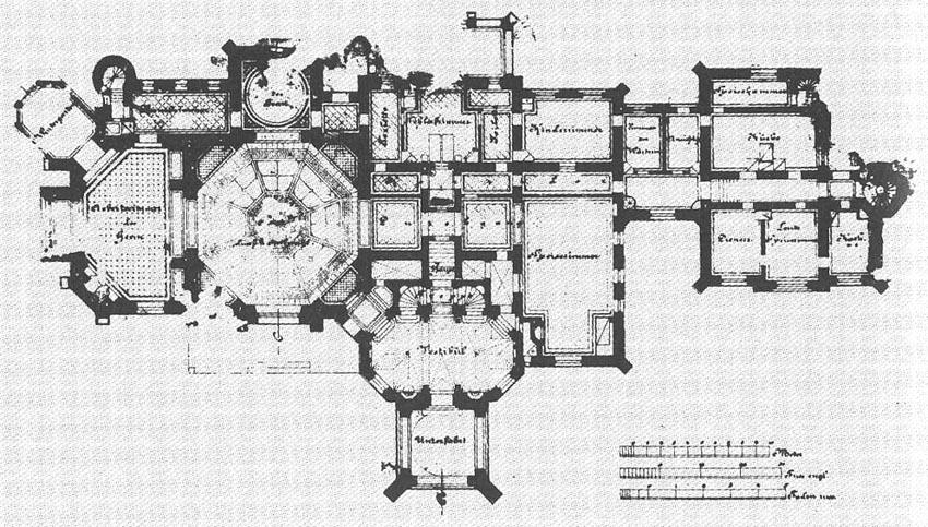 План замка 1878 года по