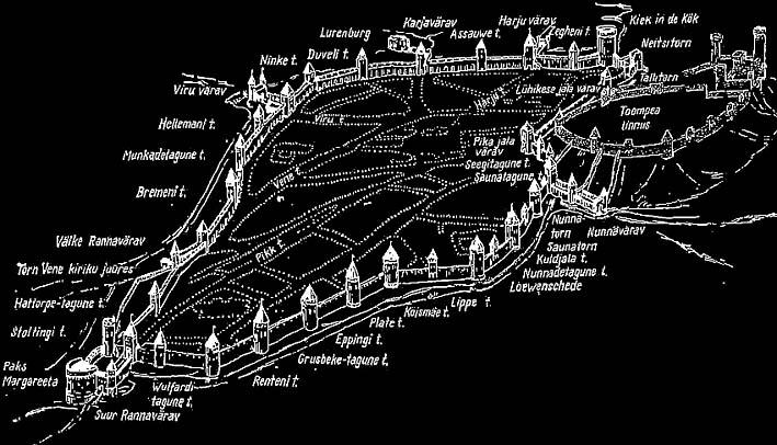 Схема Старого города Таллина и