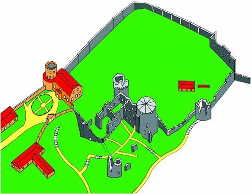 башней замка Венден была